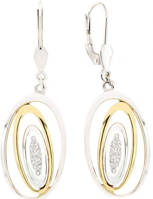 Elegantní diamantové náušnice ze žlutého zlata AGAPE s brilianty 1750129 (1750129 - POŠTOVNÉ ZDARMA!!! )