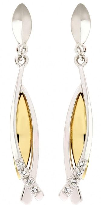 Elegantní diamantové náušnice ze žlutého zlata AGALAIA s brilianty 1750108 (1750108 - POŠTOVNÉ ZDARMA!!! )
