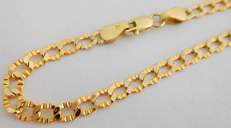 Mohutný pánský zlatý řetěz (řetízek) šíře 4mm 585/4,85gr 55cm 3740046