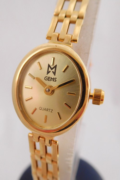 Luxusní společenské dámské zlaté hodinky GEMS 585/14,10gr 1440219 (POŠTOVNÉ ZDARMA!! švýcarské zlaté hodinky)