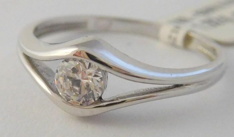 Zlatý zásnubní prsten z bílého zlata se zirkonem vel.56 585/1,92gr 1860389 (1860389 - POŠTOVNÉ ZDARMA!!)