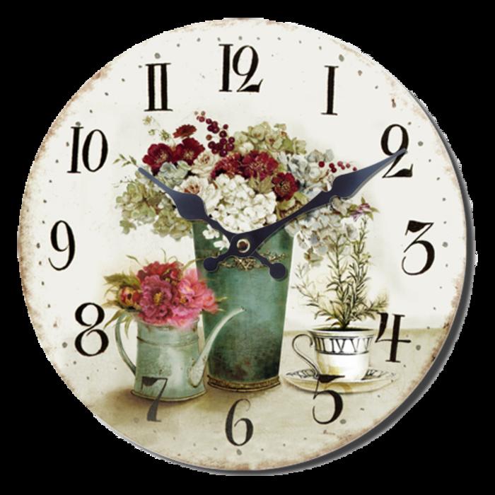 Nástěnné hodiny A la Campagne JVD NB3 s francouzským motivem (francouzský design hodin)
