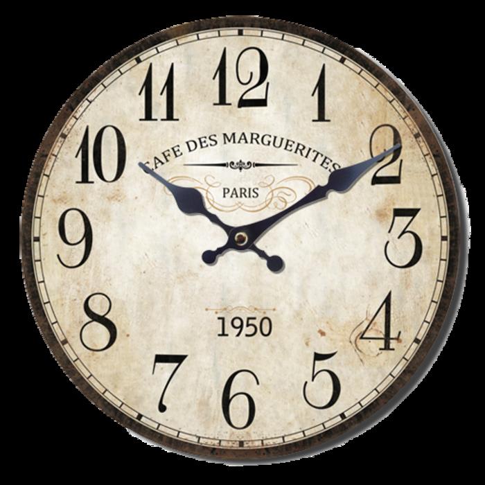 Nástěnné hodiny A la Campagne JVD NB4 s francouzským motivem (francouzský design hodin)
