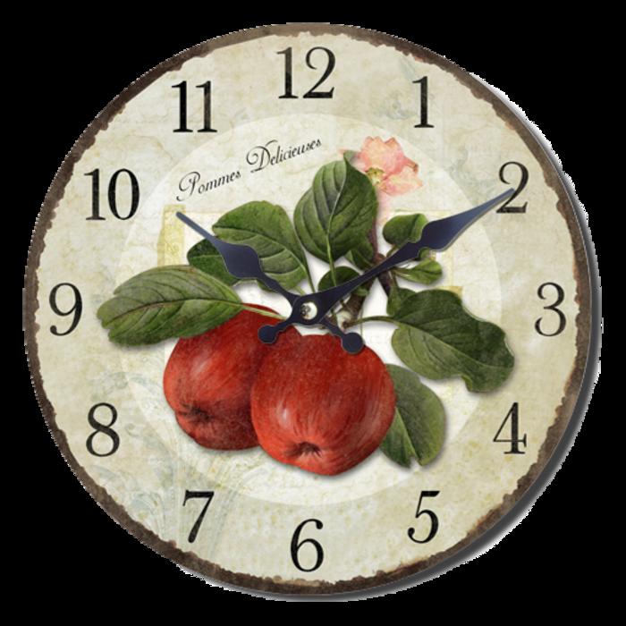Nástěnné hodiny A la Campagne JVD NB6 s francouzským motivem (francouzský design hodin)
