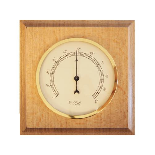 Dřevěný hranatý barometr JVD BA4/DBH s vlhkoměrem