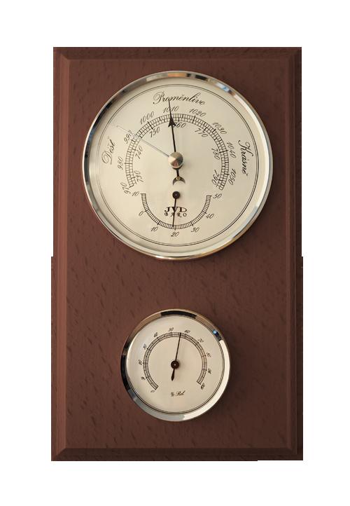 Dřevěný barometr JVD BA11/ORBHT s vlhkoměrem, teploměrem a předpovědí počasí (POŠTOVNÉ Z