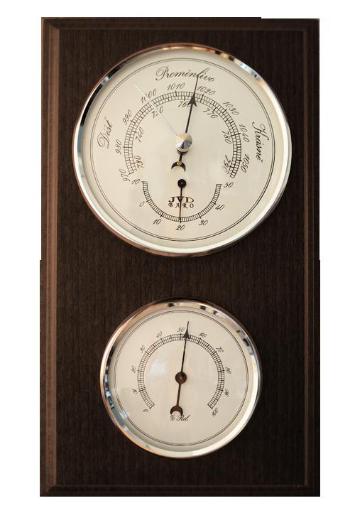 Dřevěný barometr JVD BA12/ORBHT s vlhkoměrem, teploměrem a předpovědí počasí (POŠTOVNÉ ZDARMA!!)