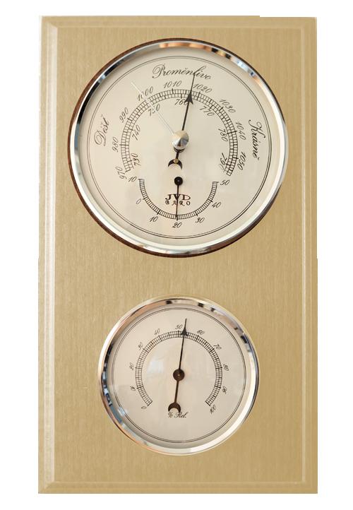 Dřevěný barometr JVD BA12/PRBHT s vlhkoměrem, teploměrem a předpovědí počasí (POŠTOVNÉ ZDARMA!!)
