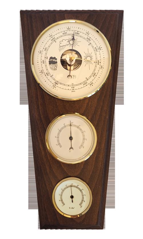 Dřevěný barometr JVD BA13/ORBTH s vlhkoměrem, teploměrem a předpovědí počasí (POŠTOVNÉ Z