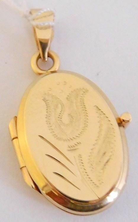 Zlatý velký medailon - medailonek ze žlutého zlata otevírací 585/2,45gr T275