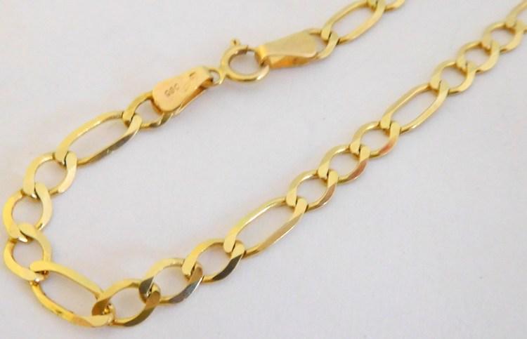 Mohutný pánský masivní zlatý řetěz - prodloužený 55cm 585/6,60gr T277