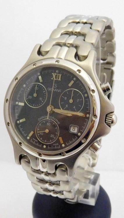 Mohutné pánské švýcarské ocelové chronografy - hodinky Grovana 1511.9135 e5e8203cd5