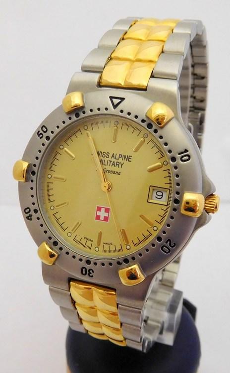 2c5916ccb7e Švýcarské pánské hodinky Grovana Swiss Alpine Military bicolor 1505.1141