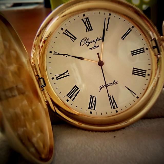 Luxusní zlacené kapesní hodinky Olympia 30603 s římskými číslicemi (kapesní hodinky zlaté)