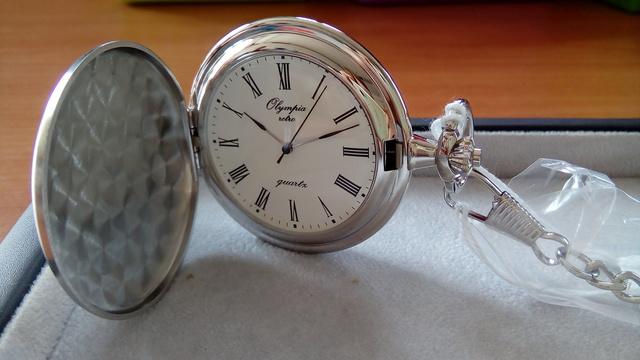 Luxusní pánské stříbrné kapesní hodinky Olympia 30601  5fe7654a68