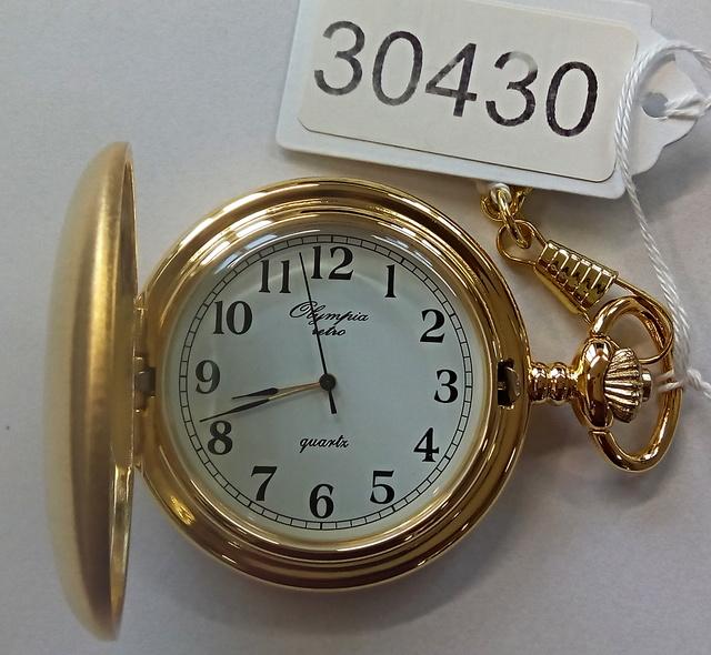 Luxusní pánské zlacené kapesní hodinky Olympia 30430 (kapesní hodinky)