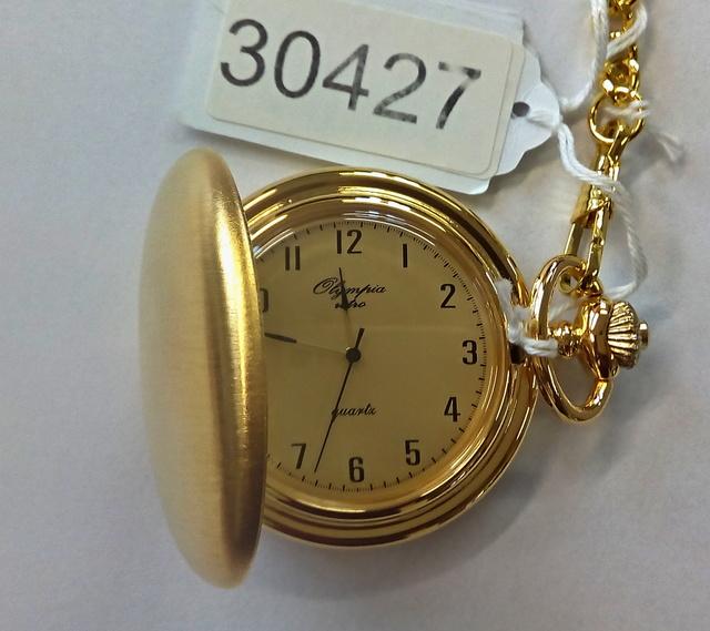 Luxusní pánské zlacené kapesní hodinky Olympia 30427 (kapesní hodinky)