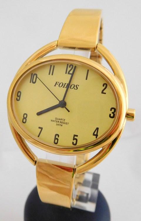 Celozlaté ocelové šperkové dámské hodinky Foibos 28291 (s přehledným  číselníkem) 72487592bc