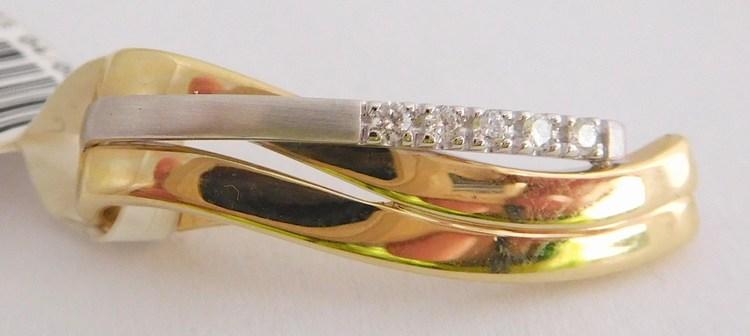 Diamantový zlatý přívěsek z bílého a žlutého zlata 5 x 0,05CT 585/2,00gr 1750086 (1750086 - POŠTOVNÉ ZDARMA - SKLADEM IHNED ODESÍLÁME)