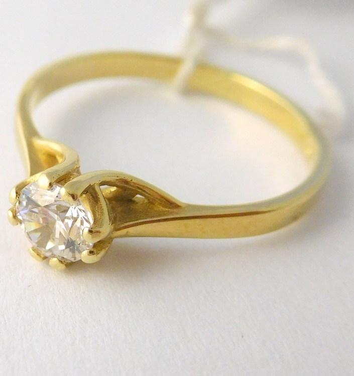 Mohutný zlatý zásnubní prsten se zirkonem 585/1,85gr vel. 54 22600100977 (22600100977 - POŠTOVNÉ ZDARMA)