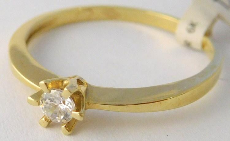 Dámský zlatý zásnubní prsten se zirkonem 585/1,50gr vel. 55 1810269 (1810269 - POŠTOVNÉ ZDARMA)