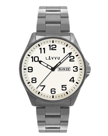 Vodotěsné ocelové pánské hodinky LAVVU BERGEN White LWM0010 (POŠTOVNÉ ZDARMA!!)