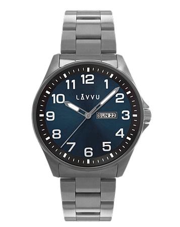Vodotěsné ocelové pánské hodinky LAVVU BERGEN Blue LWM0011 (POŠTOVNÉ ZDARMA!!)