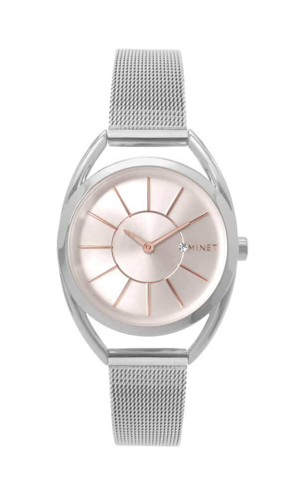 Stříbrné dámské hodinky MINET ICON SILVER ROSE MESH MWL5010 (POŠTOVNÉ  ZDARMA!! ) f3fb6d9258
