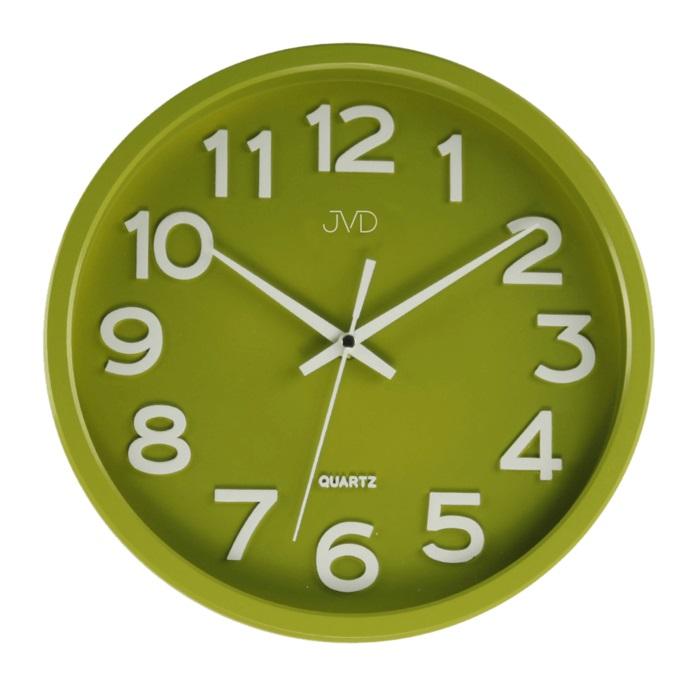 Plastové pastelové nástěnné tiché netikající dětské hodiny JVD HX2413.4