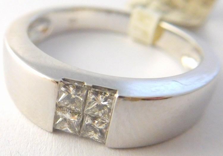 Masivní diamantový prsten z bílého zlata s brilianty 585/4,0gr vel. 55 3860071 (3860071 - POŠTOVNÉ ZDARMA - SKLADEM IHNED ODESÍLÁME)
