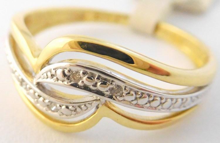Masivní diamantový prsten ze žlutého zlata s brilianty 585/2,15g 3913006 (3913006 - POŠTOVNÉ ZDARMA )