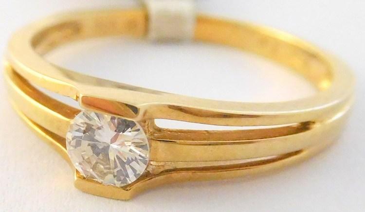 Zásnubní prsten s velkým přírodním diamantem 0,19CT 585/2,30gr vel. 52 3810121 (3810121 - POŠTOVNÉ ZDARMA - SKLADEM IHNED ODESÍLÁME)