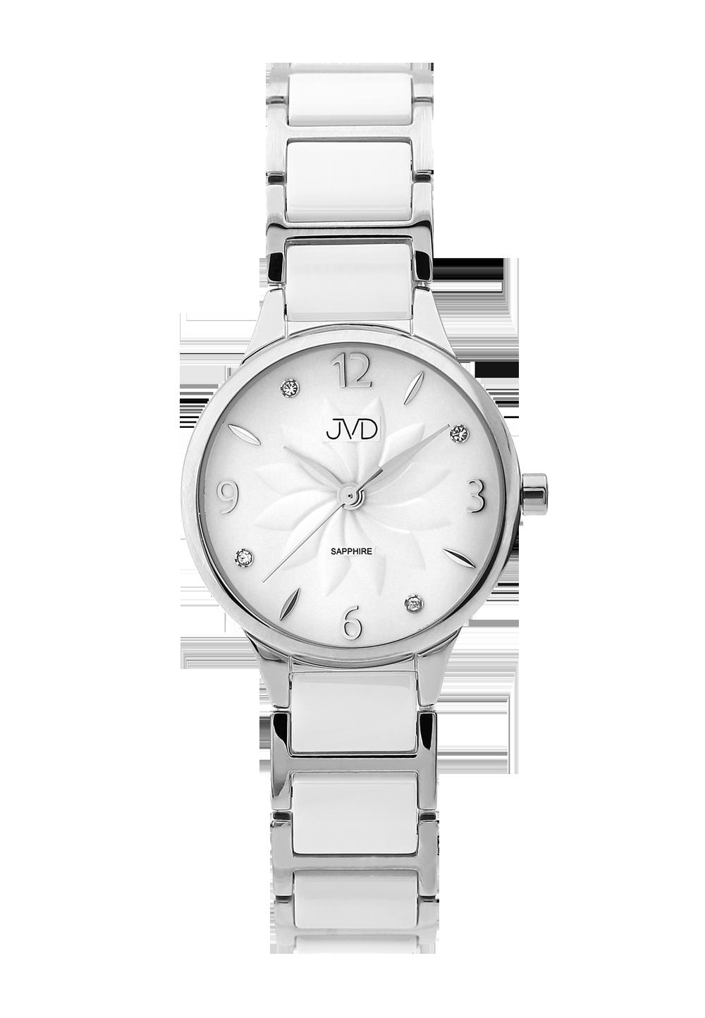 c1262b5514b Dámské náramkové keramické hodinky JVD JG1001.1 se safírovým sklem  (POŠTOVNÉ ZDARMA!