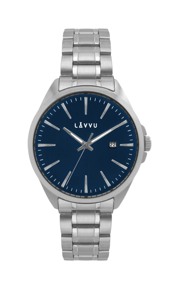 Vodotěsné stylové pánské hodinky LAVVU STAVANGER Blue LWM0041 ... 48162368ed