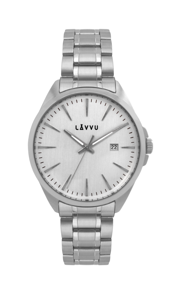 Vodotěsné stylové pánské hodinky LAVVU STAVANGER Silver LWM0040 ... 01db58194fb