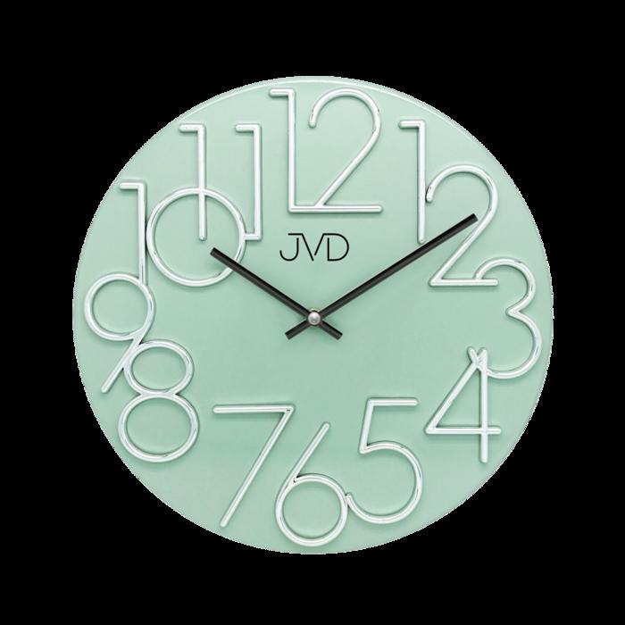 Kovové designové nástěnné zelené hodiny JVD HT23.6 (POŠTOVNÉ ZDARMA!!)