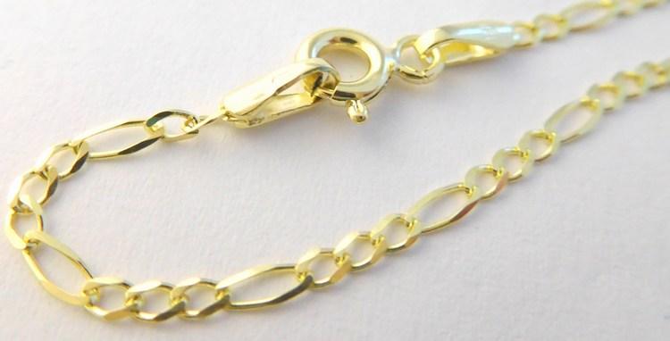 Pevný prodloužený zlatý řetízek ze žlutého zlata FIGARO 585/2,32gr 55cm 2840016 (POŠTOVNÉ ZDARMA!!!! PÁNSKÝ ZLATÝ ŘETÍZEK)