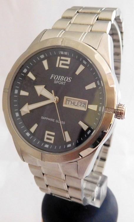 Pánské vodotěsné ocelové přehledné hodinky Foibos sport 7054.2 (safírové  sklo) (POŠTOVNÉ ZDARMA! ec8cd4429c