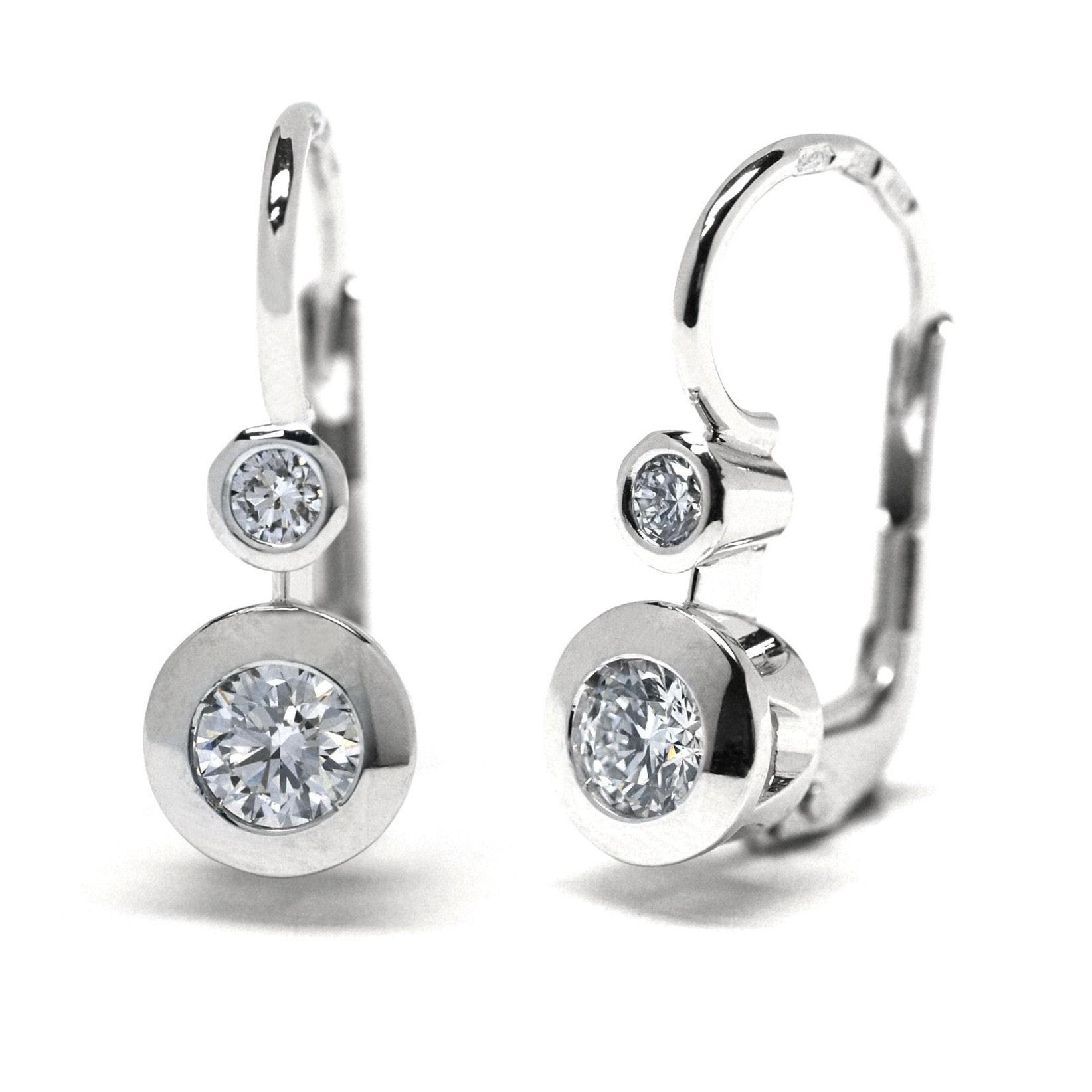 Diamantové zlaté náušnice z bílého zlata J-29811-18 (J-29811-18 - POŠTOVNÉ ZDARMA!!)