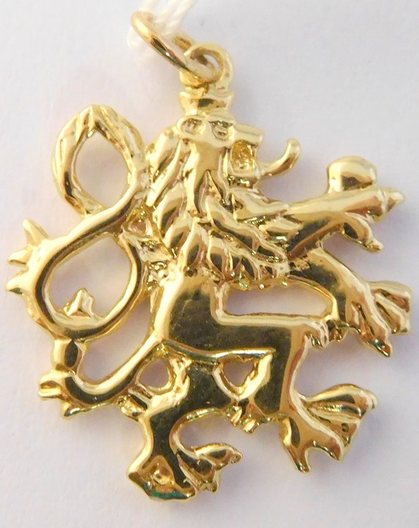 Mohutný zlatý přívěsek - český lev - český státní symbol 585/2,87gr H265