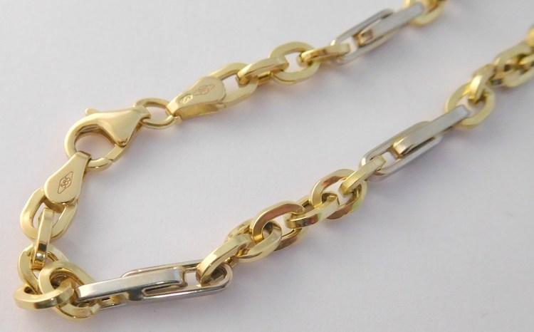 31e671cfc Pánský mohutný zlatý masivní řetěz 585/8,64gr - šířka 4-5mm v