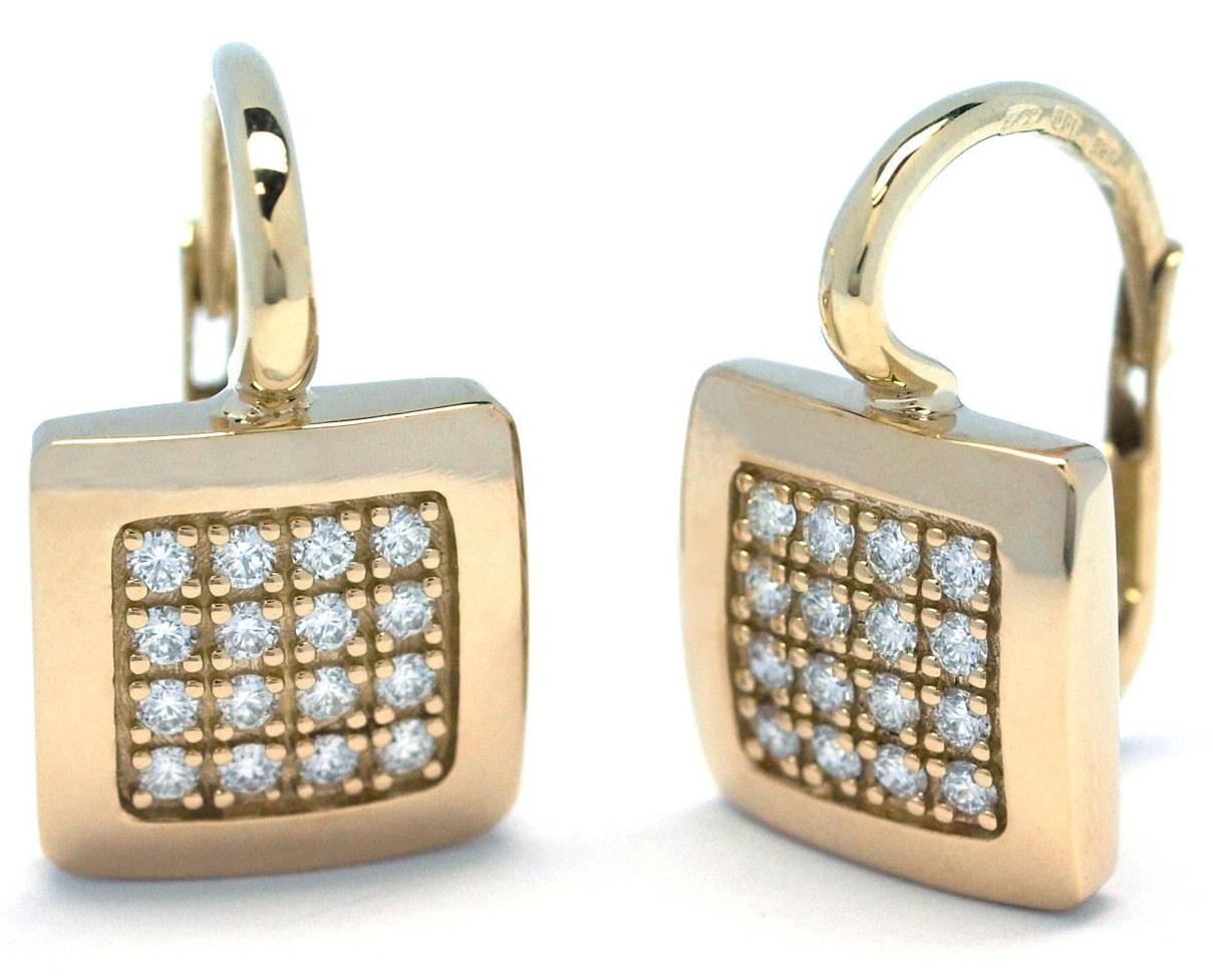 8e4b1f2e8 Luxusní zlaté náušnice s diamanty ze žlutého zlata na patent J-29939 ...