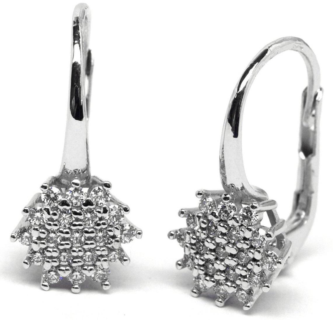 Luxusní zlaté náušnice s diamanty z bílého zlata na patent J-28291-17 (J-28291-17 - POŠTOVNÉ ZDARMA!!)