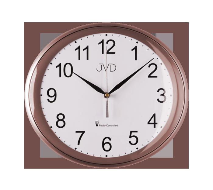 ROSE luxusní oválné přesné rádiem řízené hodiny JVD RH64.9