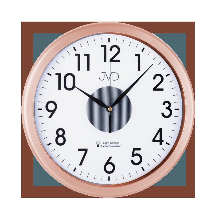 Rádiem řízené nástěnné hodiny JVD RH692.4
