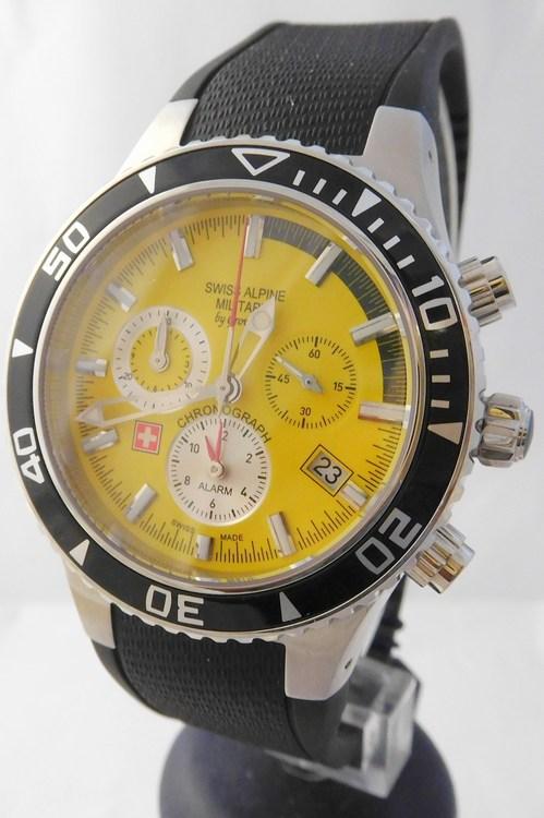 Pánské švýcarské hodinky - chronograf Swiss Alpine Military by Grovana  1607.8835 (POŠTOVNÉ ZDARMA! 8681de9d9c