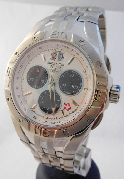 3ab83cc5133 Pánské švýcarské hodinky GROVANA 1610.9133 SWISS ALPINA BY MILITARY  (švýcarský vodotěsný chronograf - POŠTOVNÉ ZDARMA