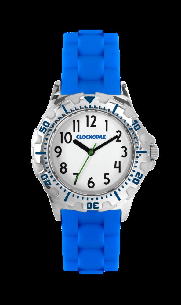 Svítící modré sportovní chlapecké hodinky CLOCKODILE SPORT 2.0 CWB0023 (chlapecké sportovní hodinky se svítícím luminiscenčním číselníkem)