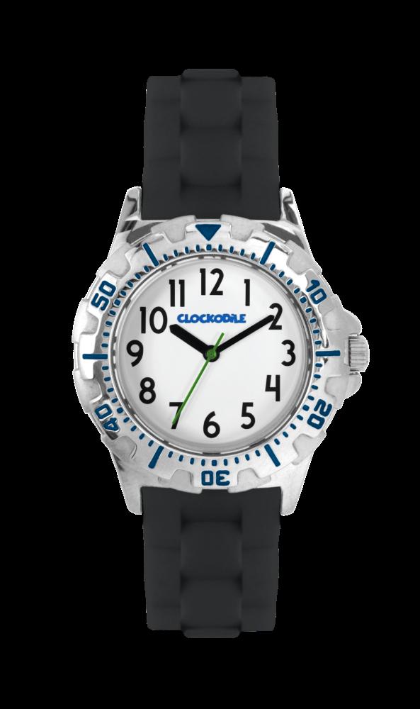 Svítící černé sportovní chlapecké hodinky CLOCKODILE SPORT 2.0 CWB0024 (chlapecké sportovní hodinky se svítícím luminiscenčním číselníkem)