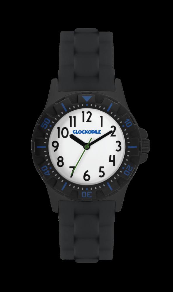Svítící černé sportovní chlapecké hodinky CLOCKODILE SPORT 2.0 CWB0027 (chlapecké sportovní hodinky se svítícím luminiscenčním číselníkem)